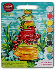 paint by number frog kit